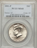Kennedy Half Dollars: , 2001-P 50C MS68 PCGS. PCGS Population (189/2). Numismedia Wsl.Price for problem free NGC/PCGS coin in ...