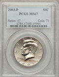 Kennedy Half Dollars: , 2003-P 50C MS67 PCGS. PCGS Population (178/6). NGC Census: (35/5).Numismedia Wsl. Price for problem free NGC/PCGS coin in...