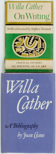 Books:Reference & Bibliography, [Willa Cather, Bibliography]. Pair of First Edition Books. IncludesOn Writing. New York: Knopf, 1949. [and:] Joan... (Total: 2Items)