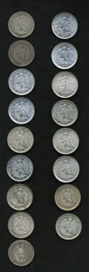 Chile: , Chile: Republic 20 Centavos Date Collection, seventeen differentdates including: KM138.1 1867, VF, 1868, VG/F, 1869, XF, 1870,BU,... (Total: 17 coins Item)