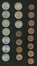 Chile: , Chile: Republic 20 Centavos Selection, twenty-two coins, alldifferent and all UNC, many choice: KM167.1 1921, 1922, 1924, 1925,KM... (Total: 22 coins Item)