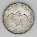 Chile: , Chile: Republic 50 Centavos 1862, KM128, 6/5 overdate, choice tonedVF-XF, rare grade for this date....