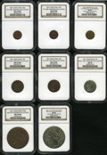 Chile: , Chile: Republic Collection of 1851 Patterns, these eight Essaiswere struck by the firm of Thonnelier in Paris in various sizesand... (Total: 8 Coins Item)