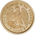 Chile: , Chile: Republic Copper Pattern Medio Decimo 1868, KM-Pn13, Proof 64NGC Brown, a choice example with mint luster in the legends. Ex...
