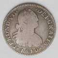 Colombia: , Colombia: Ferdinand VII Real 1810/09NR-JF, KM68.1, toned Fine, veryobvious overdate....