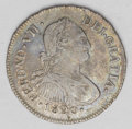 Colombia: , Colombia: Ferdinand VII 2 Reales 1820P-FM, KM70.2, toned VF-XF with some underlying luster and full PLUS ULTRA. The strike is strong t...