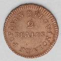 Colombia: , Colombia: Royalist Provisional Coinage 2 Reales 1813 Popayan, KM-B2, AU-UNC, lightly dipped at one time and now nicely toned. Scarce d...