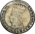 Colombia: , Colombia: Cundinamarca Real 1813-JF, KM-F1, MS63 NGC, an incrediblybold, lightly toned example with immediate eye appeal.Considering...