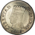 Colombia: , Colombia: Cundinamarca 2 Reales 1816-JF, KM-C4, XF45 NGC, rarevariety with the 6 punched over an earlier horizontal 6. Nice evenstri...
