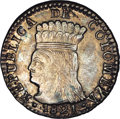 Colombia: , Colombia: Cundinamarca - Republica de Colombia Real 1821Ba-JF,KM-B9, MS63 NGC, gorgeous gray and gold patina over lustrous fieldsand...
