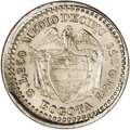 Colombia: , Colombia: Republic Real 1827-RR Bogota, KM87.1, MS65 NGC, asparkling example of this initial date with full frosty whiteluster and w...