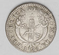 Colombia: , Colombia: Republic Real 1828-MF Popayan, KM87.2, choice tonedVF-XF, evenly worn and very attractive....