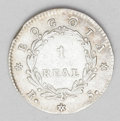 Colombia: , Colombia: Nueva Granada Real 1845-RS Bogota, KM91.1, lustrousXF-AU, slightly soft strike on the obverse center, but overall avery at... (Total: 2 coins Item)