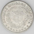 Colombia: , Colombia: Republic 2 Decimos 1867 Bogota, KM149a.1, choice XF-AU,appealing light toning and very bold details. Rarely encounteredqua...