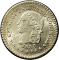 Colombia: , Colombia: Republic 5 Centavos 1883/2 Bogota, KM174a.1, MS66 NGC, aremarkable example with sharply defined details and full, original...