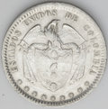 Colombia: , Colombia: Republic Peso 1864 Bogota, KM139.1, nearly XF, considerable mint luster, very nice example....