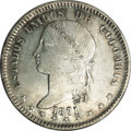 Colombia: , Colombia: Republic Peso 1871 Bogota, KM154.1, XF45 NGC, lightlytoned with just a few small surface marks. Scarce grade....