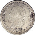 Colombia: , Colombia: Republic 5 Decimos 1870 Popayan, KM153.6, VF25 NGC,lightly toned and very attractive, the strike on Libertad istypically s...