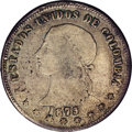 Colombia: , Colombia: Republic 5 Decimos 1873/69, KM153.6, VF20 NGC, acompletely original example with light gray-gold patina and a veryclear ov...