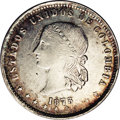 Colombia: , Colombia: Republic 5 Decimos 1873 Medellin, KM153.3, AU55 NGC,large Libertad bust, lightly toned and very well struck for thisdate. ...