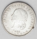 Colombia: , Colombia: Republic 5 Decimos 1873 Medellin, KM153.3, nice XF,excellent details on Libertad and some remaining mint luster. Largebust...