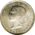 Colombia: , Colombia: Republic 5 Decimos 1880 Medellin, KM161.1, MS64 NGC,extremely sharp details and full mint bloom, one of the highestgraded ...