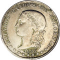 Colombia: , Colombia: Republic 5 Decimos 1886/4 Medellin, KM161.2a, AU55 NGC,an attractive and fully original example with light patina. 500fine...