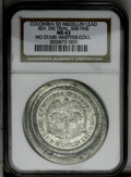 Colombia: , Colombia: Republic Uniface Die Trial Medellin ND, the reverse die for the 50 Centavos of 1886 on a large lead planchet. MS63 NGC, full...