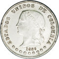 Colombia: , Colombia: Republic 50 Centavos 1886 Medellin, KM177a.3, AU50 NGC,quite sharply struck with considerable original mint luster,typical...