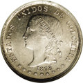 Colombia: , Colombia: Republic 50 Centavos 1878 Bogota, KM177.1, MS62 NGC,lustrous and very nicely struck example of this scarcer date.BC45....