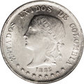 Colombia: , Colombia: Republic 50 Centavos 1882 Bogota, KM177.1, MS62 NGC,fully lustrous and attractive. BC49....