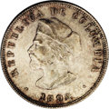 Colombia: , Colombia: Republic 50 Centavos 1892, KM187.1, larger diameter, MS63NGC, attractively toned and rarely encountered this nice.Columbus...
