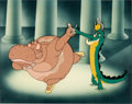 Animation Art:Production Cel, Fantasia Hyacinth Hippo and Ben Ali Gator Production Cel Courvoisier Setup (Walt Disney, 1940)....