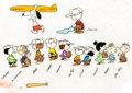 Animation Art:Production Cel, Charlie Brown's All Stars Full Cast Color Model Cel (BillMelendez Studios, 1966)....