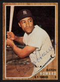 Autographs:Sports Cards, Signed 1962 Topps Elston Howard #400. ...