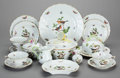 Ceramics & Porcelain, Continental:Modern  (1900 1949)  , A SEVENTY-TWO PIECE HEREND PORCELAIN DINNER SERVICE IN THEROTHSCHILD BIRD PATTERN, Herend Porcelain, Herend, Hu...(Total: 72 Items)