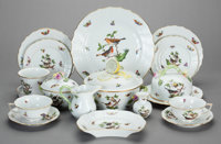 A SEVENTY-TWO PIECE HEREND PORCELAIN DINNER SERVICE IN THE ROTHSCHILD BIRD PATTERN