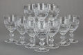 Art Glass:Other , A SET OF FRENCH GLASS WATER GOBLETS, St. Louis Crystal,Saint-Louis-lès-Bitche, France, circa 1900. Marks: ST. LOUIS,CRIS... (Total: 12 Items)