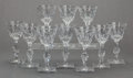 Art Glass, A SET OF TEN AMERICAN CUT GLASS WINE STEMS, Hawkes, New York, NewYork, circa 1900. Marks: HAWKES. 6-1/4 inches high (15...(Total: 10 Items)