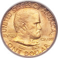Commemorative Gold, 1922 G$1 Grant With Star MS65 PCGS. Gold CAC....