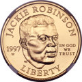 Modern Issues, 1997-W G$5 Jackie Robinson Gold Five Dollar MS70 NGC....