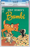Golden Age (1938-1955):Cartoon Character, Four Color #186 Bambi - Mile High pedigree (Dell, 1948) CGC NM 9.4 Off-white to white pages....
