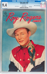 Four Color #166 Roy Rogers Comics - Mile High pedigree (Dell, 1947) CGC NM 9.4 White pages