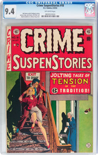 Crime SuspenStories #18 (EC, 1953) CGC NM 9.4 Off-white pages