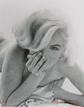 Photographs:Pigment ink print, BERT STERN (American, 1929-2013). Marilyn Monroe, BabyClose-Up, 1962. Pigment ink print, printed 2009. 23 x 18 inches(...