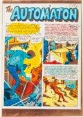 """Memorabilia:Comic-Related, EC Weird Fantasy #20 """"The Automaton"""" Complete Story Silverprint Proof Group (EC, 1953).... (Total: 7 Items)"""