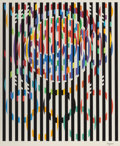 Prints, YAACOV AGAM (Israeli, b. 1928). Message Of Peace (Olympic Suite). Serigraph in colors. 40 x 31 inches (101.6 x 78.7 cm)...