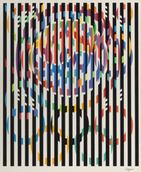 YAACOV AGAM (Israeli, b. 1928) Message Of Peace (Olympic Suite) Serigraph in colors 40 x 31 inche