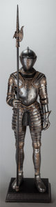 Decorative Arts, Continental:Other , A CONTINENTAL CAST SUIT OF ARMOR MODEL,. 19th century. 77 incheshigh (195.6 cm). ...