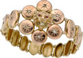 Estate Jewelry:Bracelets, DIAMOND, RUBY, GOLD, COPPER GILT, BRACELET. ...